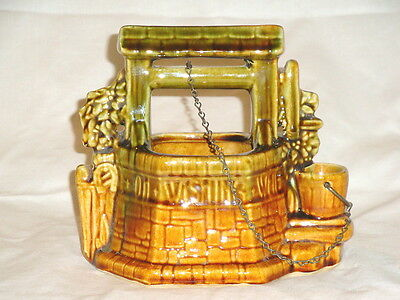 VINTAGE WISHING WELL PLANTER BY MCCOY 1950s FINE COLLECTIBLES