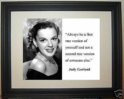"""Judy Garland """" always be"""" Quote Framed Photo Picture"""