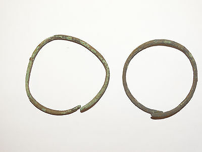 Perfect  Bronze Migration Period Bracelets.  The Nomads.Hunnu.  ca 3-6 AD.