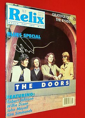 SIGNED 1991 John Densmore Relix w/ The Doors Cover - Jim Morrison Ray Robby