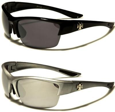 Choppers Large Wrap Sunglasses Rimless Big Uv400 Biker Motor Cycle Bike Mens