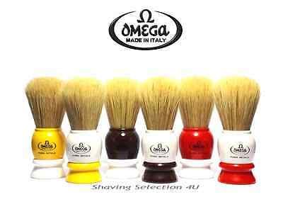 OMEGA - Quality Men's Italian Shave Brush - Pure Boar Hair - FREE Brush Stand