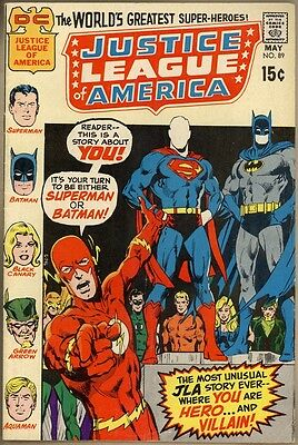 Justice League Of America #89 - VG/FN