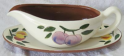 STANGL FESTIVAL GRAVY BOAT AND PLATE