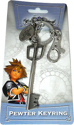 Kingdom Hearts Sora Keyblade Metal Key Chain Pewter Keyring New Official Product