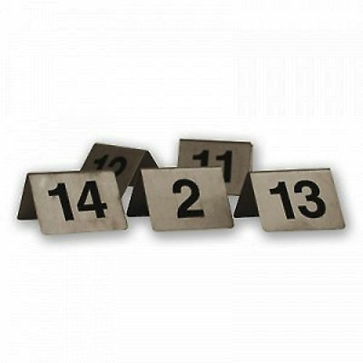 A-Frame - Table Numbers – Stylish Stainless Steel - Set 1-10