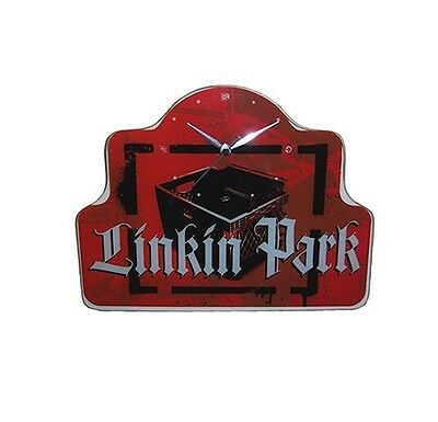 Linkin Park Record Crate Glass Wall Clock Official