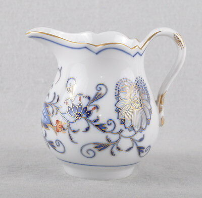 Colorful Meissen Blue Onion Creamer Royal Red Gold
