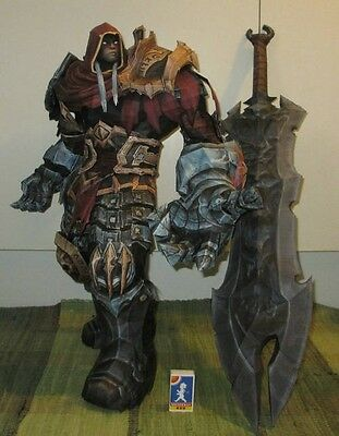 "Darksiders Horseman of Apocalypse War with Chaoseater Paper Model Kit 31"" tall"
