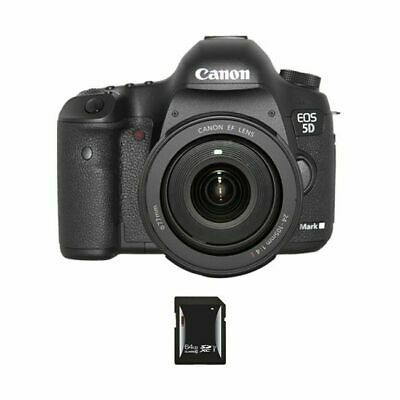 Canon EOS 5D Mark III DSLR Camera w/24-105mm Lens & 64GB SDXC Card
