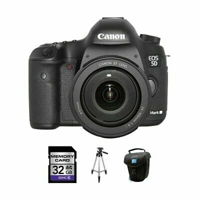 Canon EOS 5D Mark III DSLR Camera w/24-105mm Lens 32GB Kit