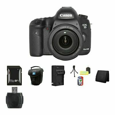 Canon EOS 5D Mark III DSLR Camera w/24-105mm Lens 64GB Compact Flash Package