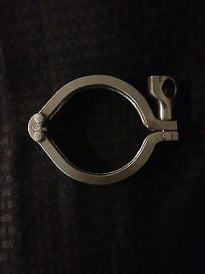 """304 Stainless Steel 3"""" Sanitary Double Pin Clamp"""