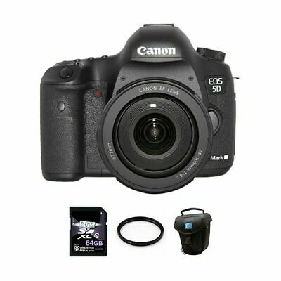 Canon EOS 5D Mark III DSLR Camera w/24-105mm Lens 64GB Full Kit