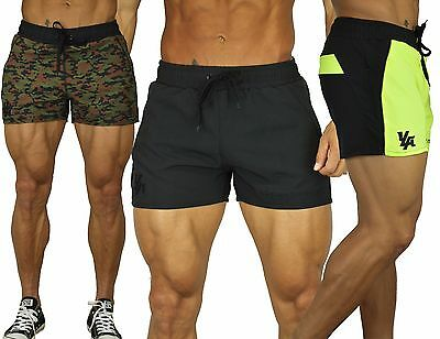 Men's BODYBUILDING RUNNING SHORTS GYM TRAINING POCKETS WITH ZIPPER YoungLA