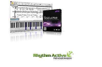 Sibelius First Notation Music Software By Avid -Pc/mac-Retail/commercial/boxed 8