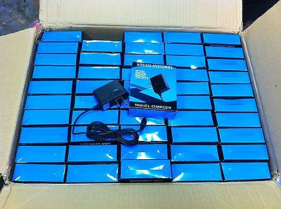 Lot of 100 - Aftermarket Home Charger For Motorola V8 - Micro USB - BlueBox NEW