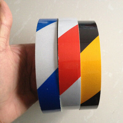 "Stripe Safety Reflective Tape Self Adhesive Warning Tape Sticker 25mm 1"" Width"