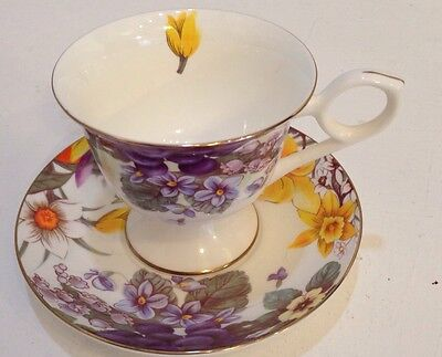 Vintage Gracie Bone China Tea Cup & Saucer