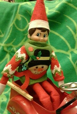 Snowman  Sweater  For Elf On The Shelf