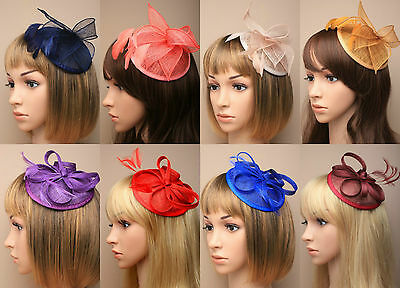 Large Comb Hat Hatinator Fascinator Weddings Ladies Day Race Royal Ascot 12