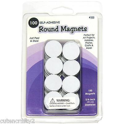 "Quilled Creations - Round Magnets (100 self-adhesive, 3/4"" / 19mm diameter)"