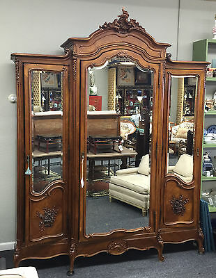 Exquisite late victorian french armoire, Custom Paint Available On Chalk Paint