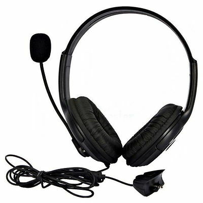 Double Headset Headphone & Microphone for Microsoft XBOX 360 Live - Black