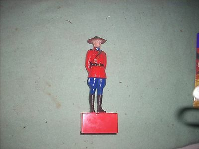 Canadian Mist Whiskey Canadian Mountie Music Box, Works, Nice !!