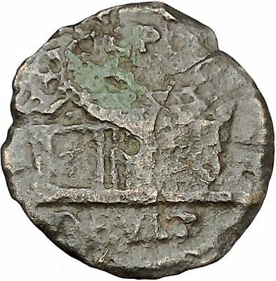 GORDIAN III 238AD Deultum Thrace Serapis 3 Dimensional Temple Roman Coin i45397