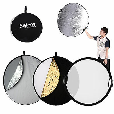 """Selens 110cm 43"""" 5in1 Light Mulit Collapsible Portable Handheld Reflector Disc"""