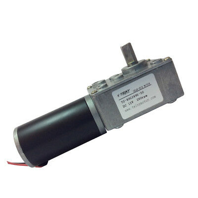12VDC 260RPM High Speed DC Worm Geared Motor with Gear Reducer High Torque