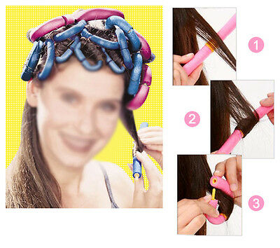Gift 12X Xmas Safe Large Bendy Twist Hair Hairdressing Rollers Foam Curlers UK