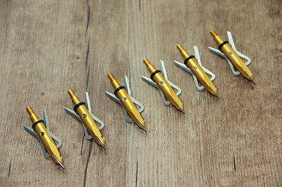 6PK Yellow Broadheads Archery Hunter Longbow Fit For Recurve Or Compound Bow