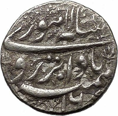 1605AD Mughal Empire of India Large Antique Islamic Muslim Silver Coin i45351