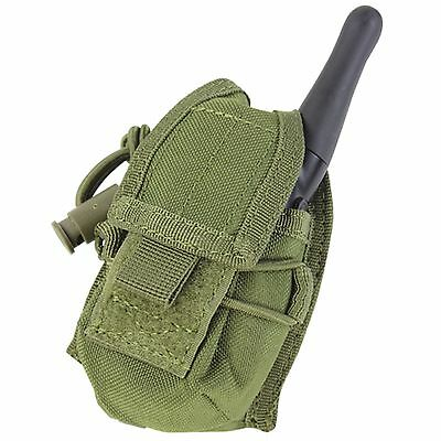 CONDOR OD GREEN MOLLE Belt Carabiner HHR Radio Holster Pouch L/R Antenna MA56
