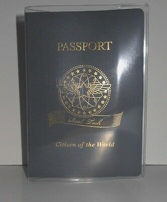 Passport Protector Clear Cover Vinyl Case, sturdy Plastic Holder Passport Sleeve