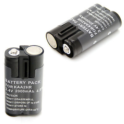 2x 2.4v 2000mAh NI-MH Replacement Rechargeable Battery For KODAK KAA2HR NEW
