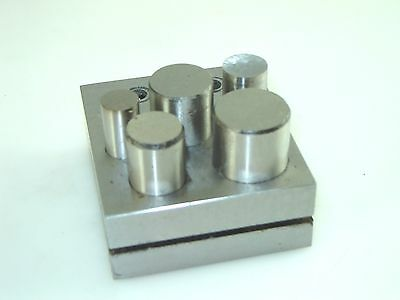 """Disc Cutter Punch Set of 5 from 1/2"""" to 1"""" Cut Round Clean Discs"""