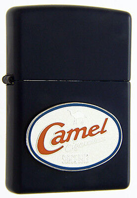 1999 Camel Retro Emblem ZIPPO Lighter Mint Unused CZ230 White Wick Blue Matte