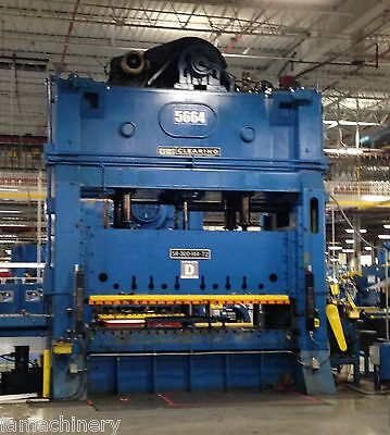 300 Ton Clearing Model S4-300-144-72 Striaght Side Double Crank Press (1973)