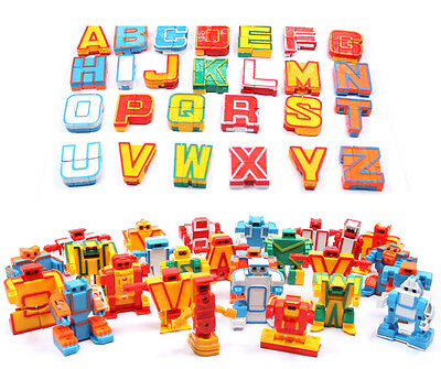 26 letters of the alphabet Transformers robot Baby Kid Toys Gift new no box
