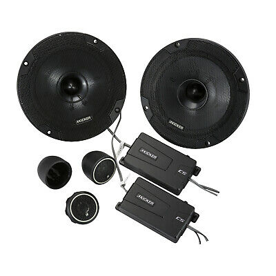 "Kicker Pair of 6.5"" Split Component Coaxial Speaker 40CSS654 2 x 100 Watts RMS"
