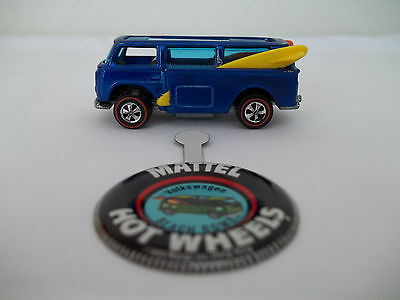 HOT WHEELS REDLINE 1969 BLUE VOLKSWAGEN BEACH BOMB - AWESOME CONDITION W/BADGE