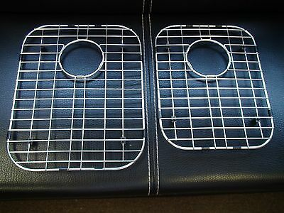 "Stainless Steel Bottom Grids for Kitchen Sink 16""x12""3/4 & 14""1/2x11""1/4 (2Pces)"