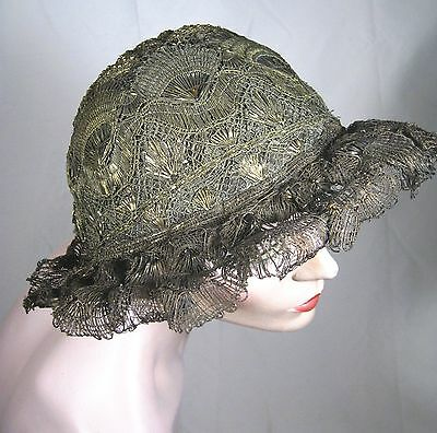 Rare Antique Gold Bullion Metal Thread French Hat ~ Late 18th Century
