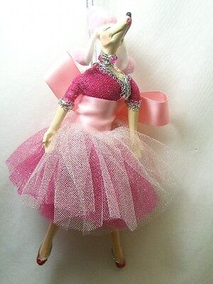 """katherine's collection pink poodle dog ballerina Fifi ornament 9"""""""