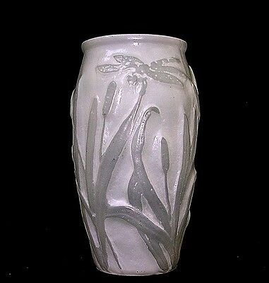 A Very Nice Antique Phoenix/Consolidated Art Glass Vase w/ Dragonflies!
