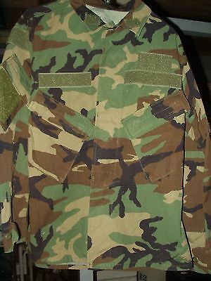 Coat, Hot Weather, Woodland Camouflage Pattern Combat Slant Pockets