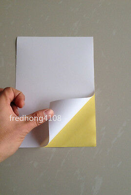 20pc Sheet A5 Printable Self Adhesive Sticker Glossy Paper Printer paper white